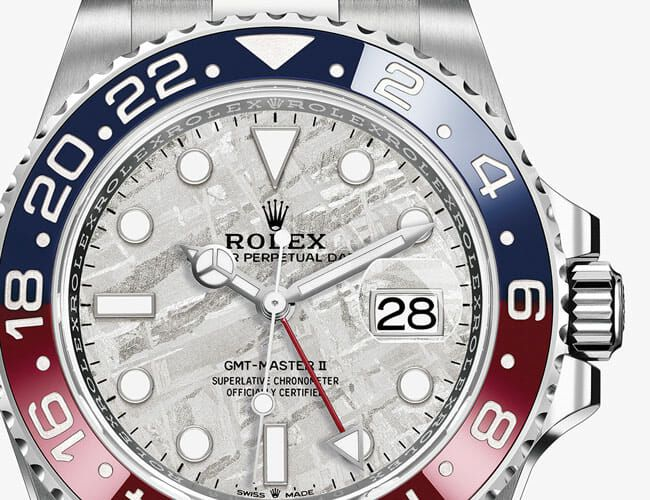 This New Rolex GMT Master II Features a Rare Meteorite Dial