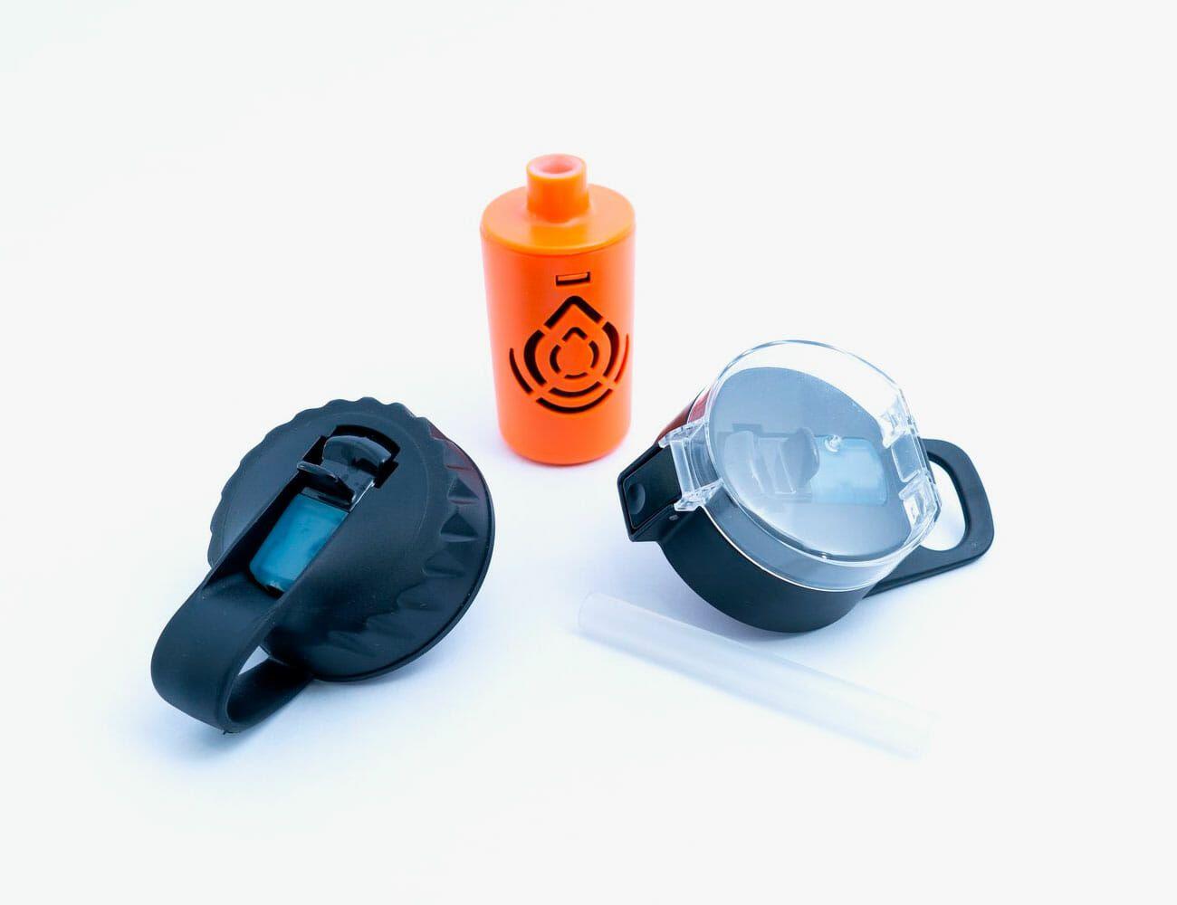 3 x Drink Bottle Lock Protectors Orange Combination Protect Kwik Top