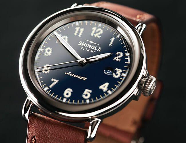 Shinola's Flagship Watch Finally Gets an Automatic Movement
