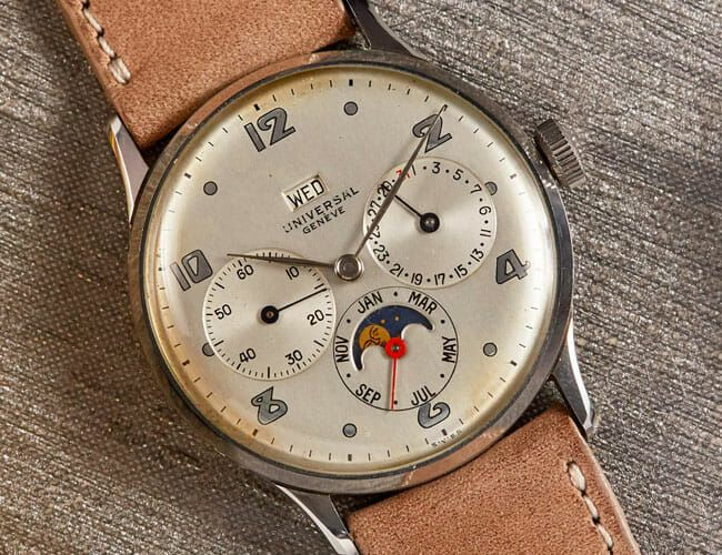 Three Colorful Vintage Calendar Watches from Popular Brands