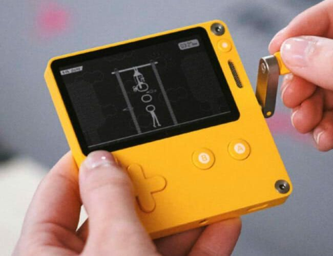 The Coolest New Game Console Has a Tiny Screen … And a Crank?!