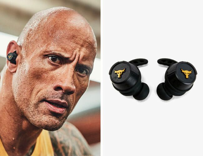 The Rock S New Gym Centric Earbuds Are More Proof His Stuff