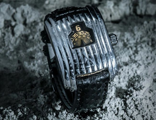 This Crazy Space-Age Art Deco Watch Is Made from Meteorite