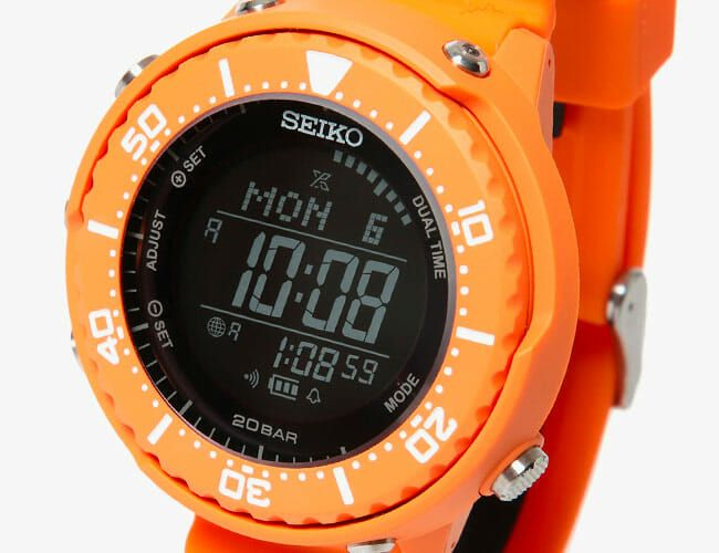 Seiko Collaborated with a Japanese Brand on This Wildly Orange Dive Watch