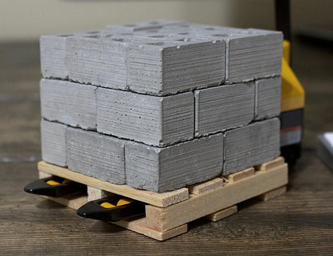 The Perfect Office Distraction Is a Pallet of Mini Cinder Blocks
