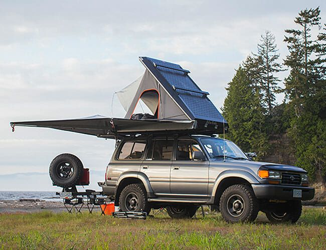 This Tent-Topped Toyota Land Cruiser Is Perfect for Overlanding on the Cheap