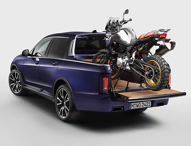 BMW Made a One-Off X7 Pickup Truck Just to Carry Motorcycles