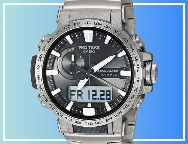 Get This Titanium Casio Pro Trek Watch Now for Just $259