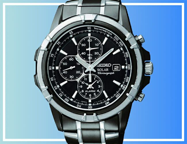 This Blacked-Out Seiko Chronograph Watch Is Over Half-Off Right Now