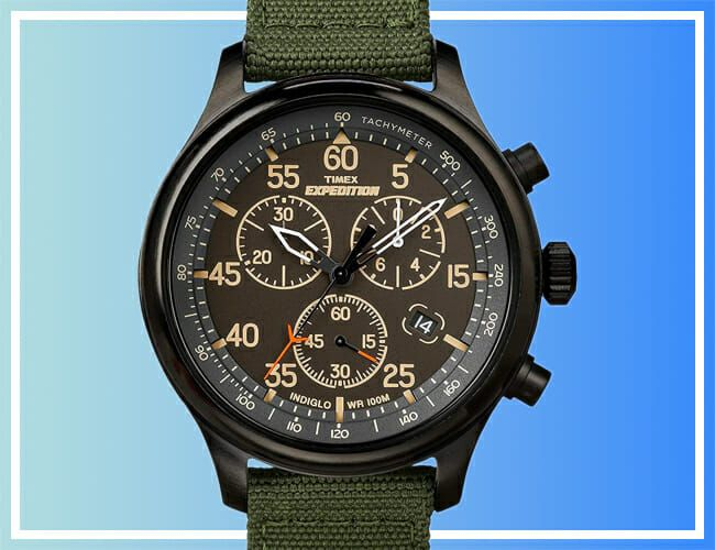 Save 54% on This Blacked-Out Timex Chronograph Watch