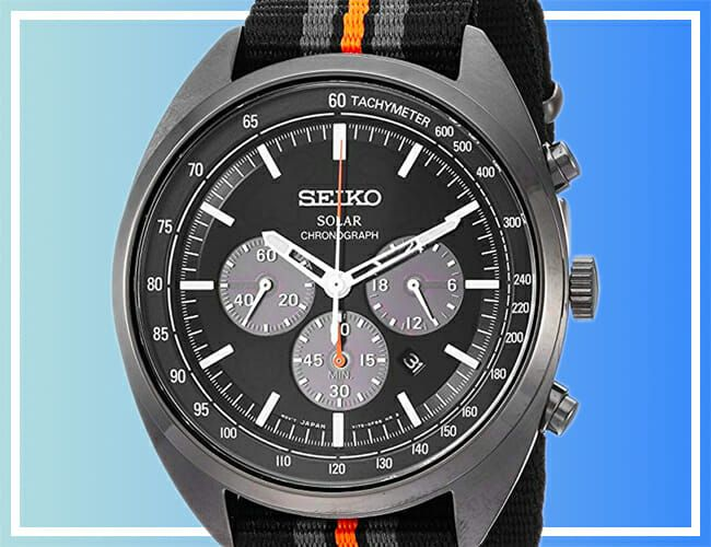 Take Over 37% Off This Blacked-Out, Affordable Seiko Chronograph Watch