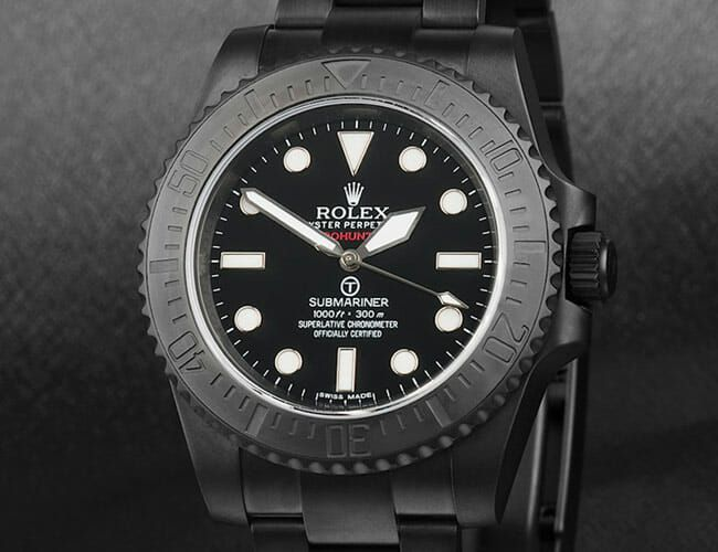 This Blacked Out Rolex Military Submariner Is Completely Customized