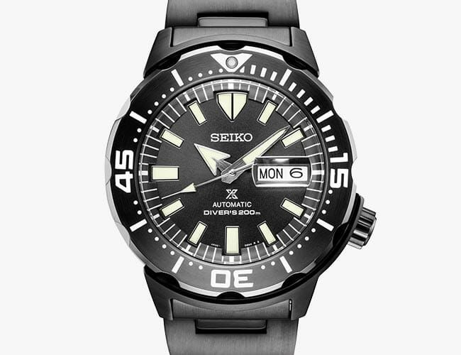 This All-Black, Affordable Seiko Dive Watch Is a Rugged Beast