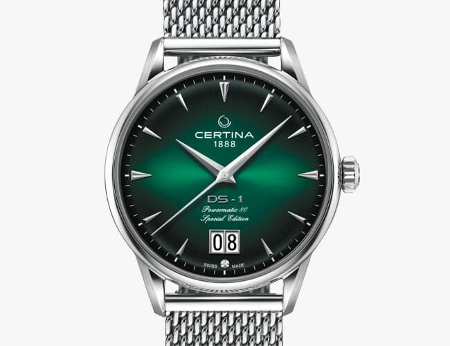 This Affordable Automatic Watch Features a Stunning Green Dial and an Uncommon Complication
