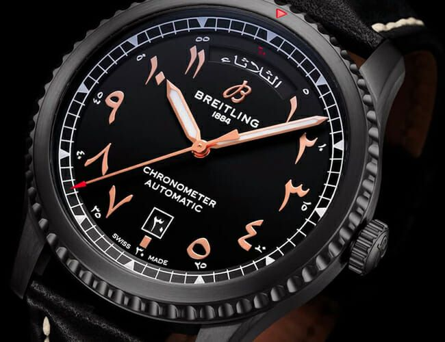 Breitling's New All-Black Watch Features an Arabic Dial