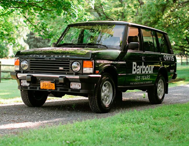 Barbour Modified a Vintage Range Rover, and It Could Be Yours