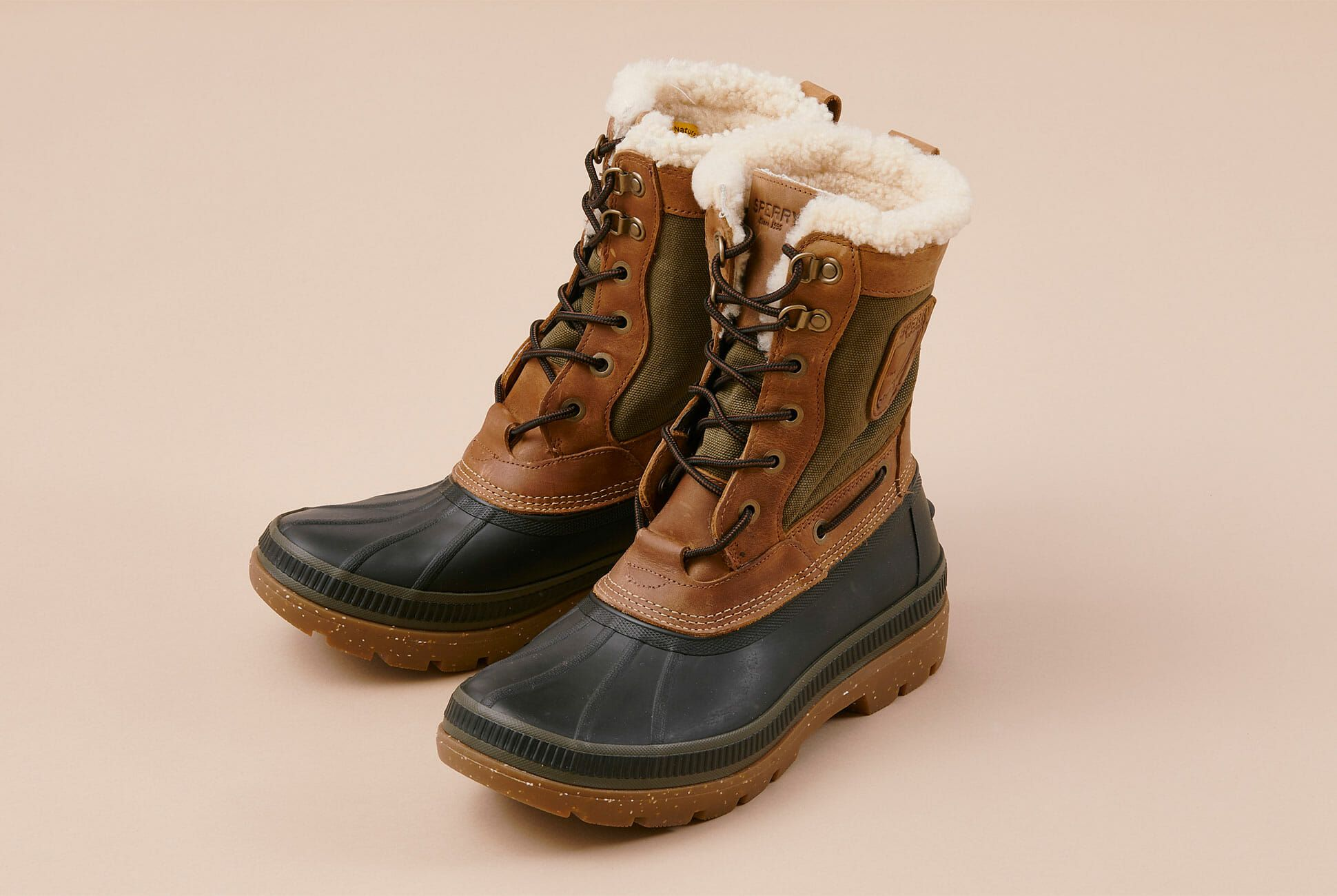 sperry flannel boots