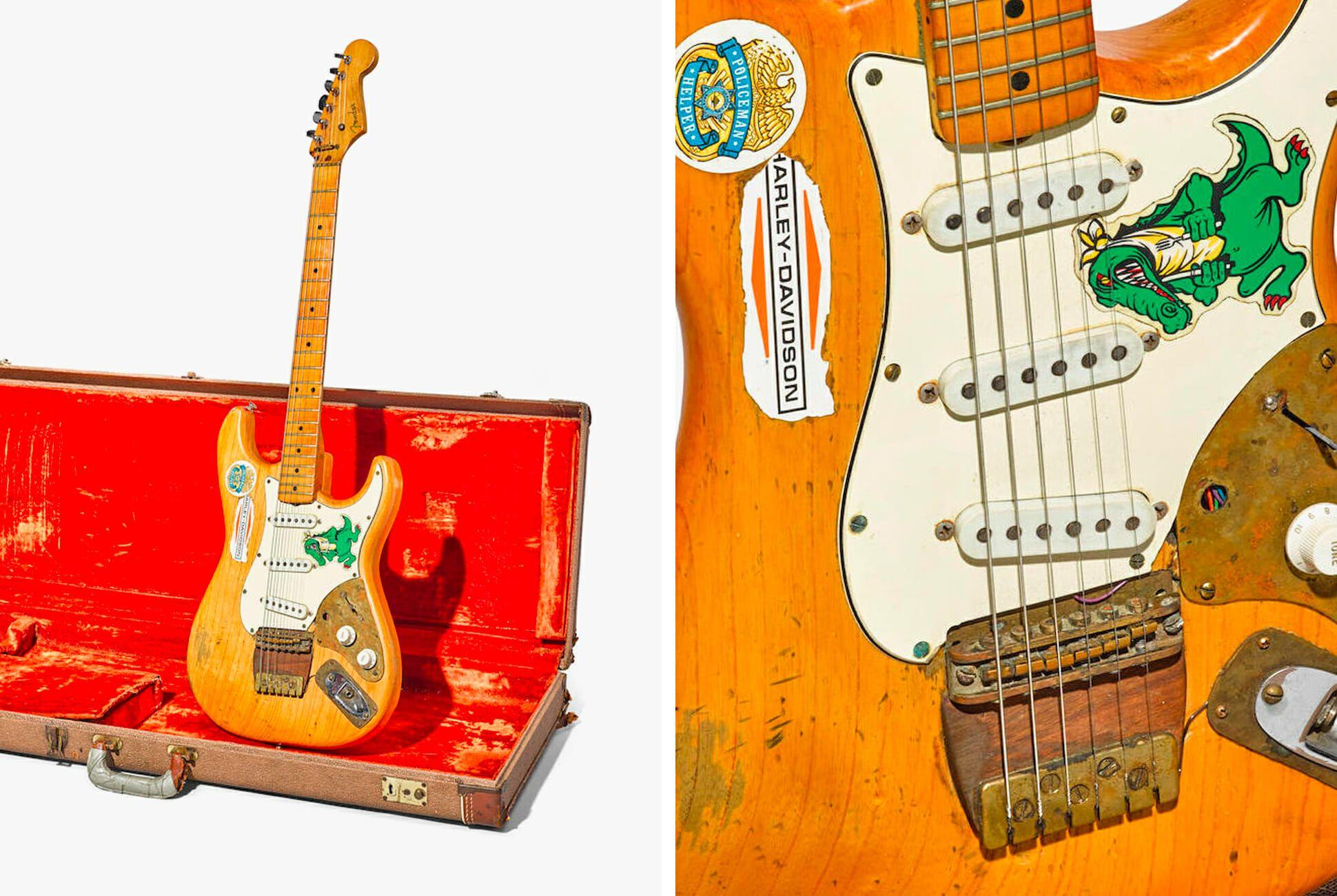 jerry garcia 39 s heavily modified fender guitar is up for sale gear patrol. Black Bedroom Furniture Sets. Home Design Ideas