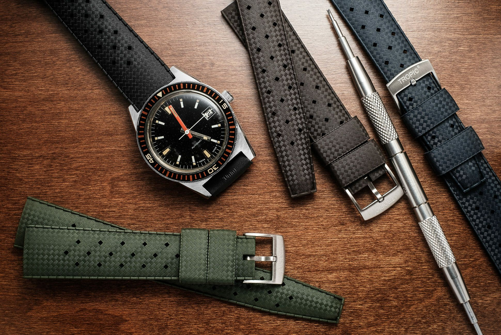 A classic looking modern dive strap