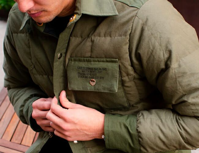 This Upcycled Down Jacket Is Made from Vintage Military Fabrics