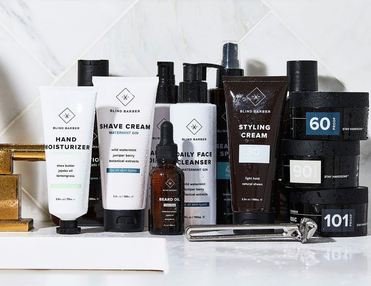 Blind Barber Grooming supplies