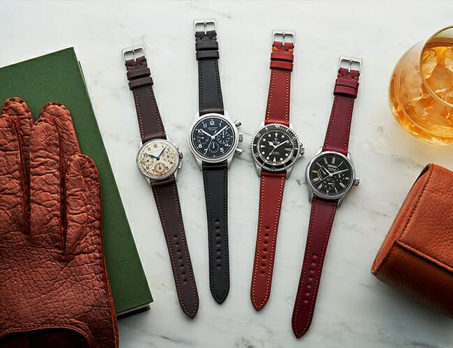 Dress Up Your Tool Watch With These Hardy Leather Straps