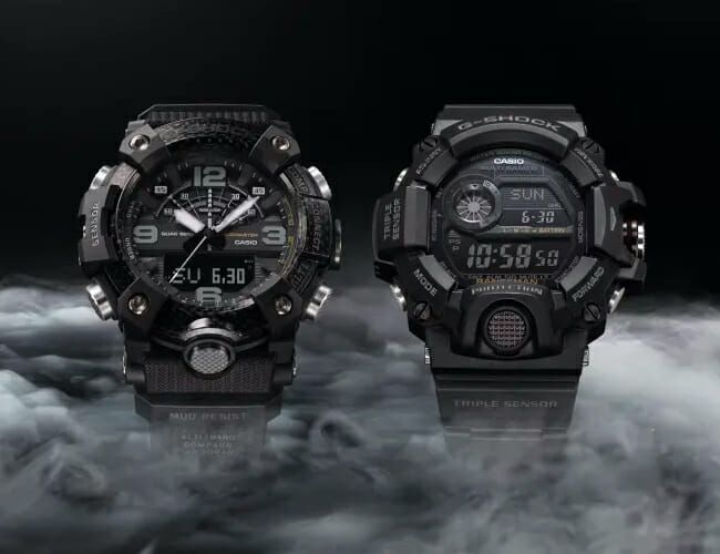 Two of G-Shock's Most Hardcore Watches Get a Stealthy Blacked-Out Treatment