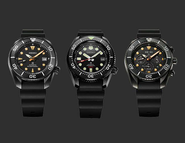 Three Hardcore Seiko Dive Watches Just Got the All-Black Treatment