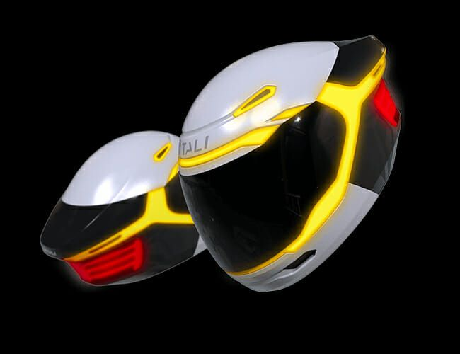 Tali's Tech-Savvy LED Helmet Could Bring Motorcycle Riding into the Future