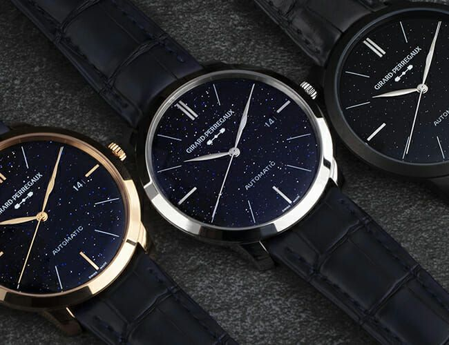 Girard Perregaux Has Introduced Three New Dress Watches with Dials Made from Aventurine