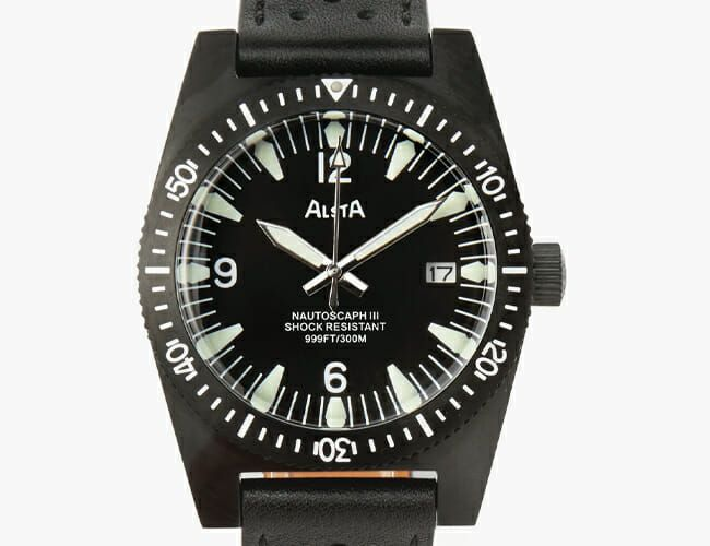 Take 40% Off This All-Black Automatic Dive Watch