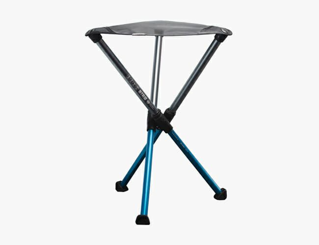 This Clever Camp Stool Packs Down to the Size of a Whiskey Bottle — and Weighs Even Less