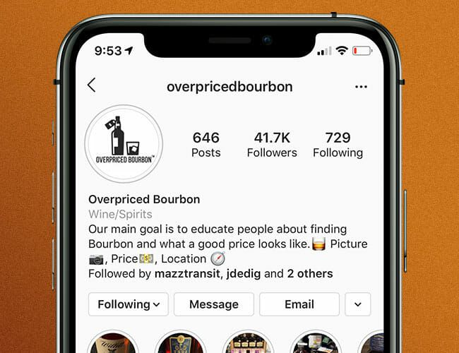 This Bourbon Instagram Account Will Save You from Overpriced Whiskey