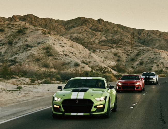 We Drove 1,400 Miles Across the West in America's Most Powerful Muscle Cars
