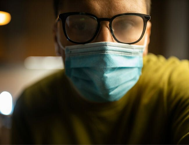 How to Prevent Foggy Glasses When You Wear a Face Mask
