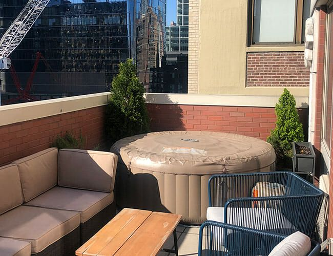 I Panic-Bought a $370 Inflatable Hot Tub for My NYC Apartment. It Saved My Sanity
