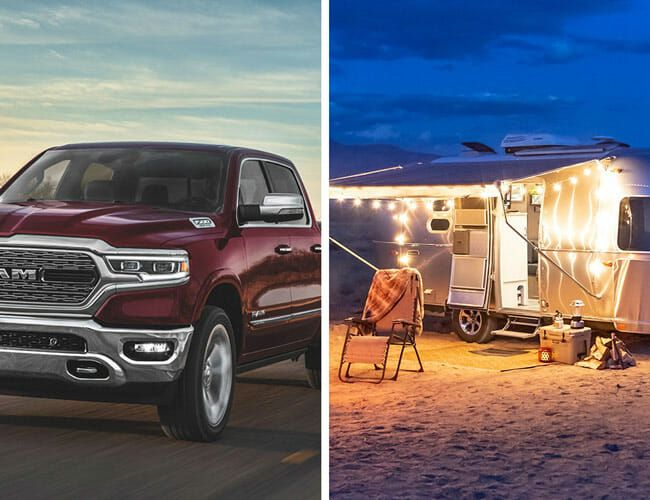 Enter to Win This Ram 1500 and Airstream Caravel, and You'll Help COVID-19 First Responders