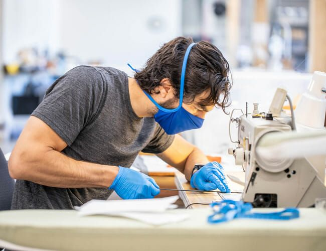 How Patagonia Transformed Its Advanced R&D Center Into a Face Mask Factory, Almost Overnight