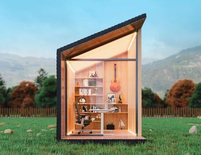 Home Offices? Old News. Get a Minimalist Work From Home Shed Instead