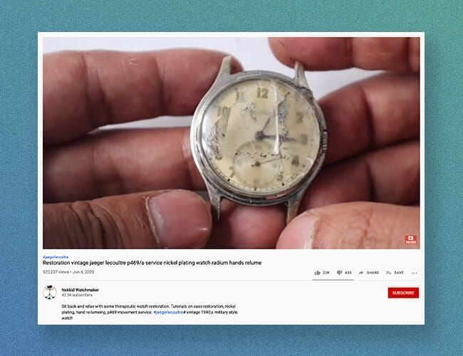 Check Out The Restoration of This Vintage Military Watch