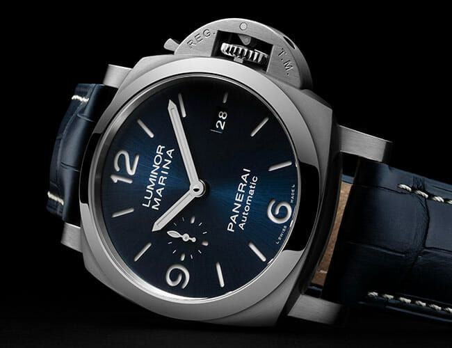 Panerai's Classic Military-Inspired Dive Watch Now Has a Beautiful Blue Dial