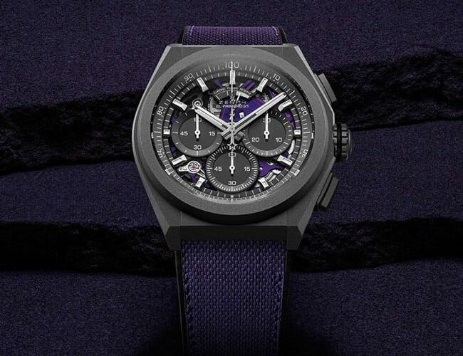 This Black and Purple Chronograph Watch Features Some Wild Tech