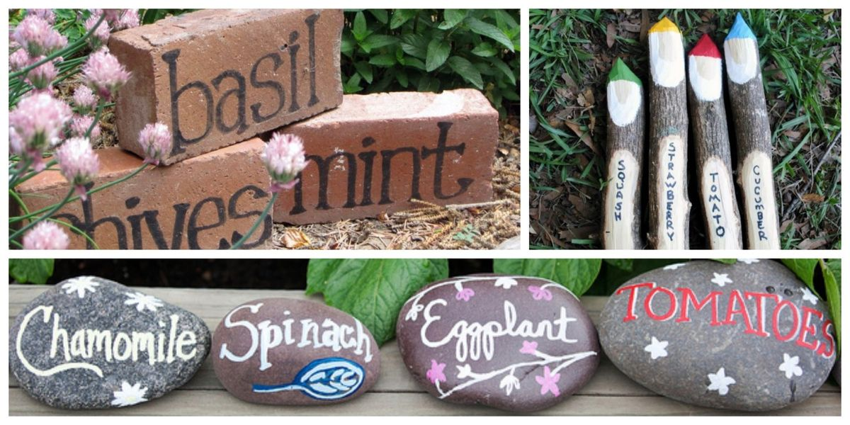 DIY Garden Markers - Gardening Ideas and Tips