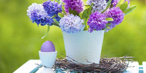 purple decorations easter flowers