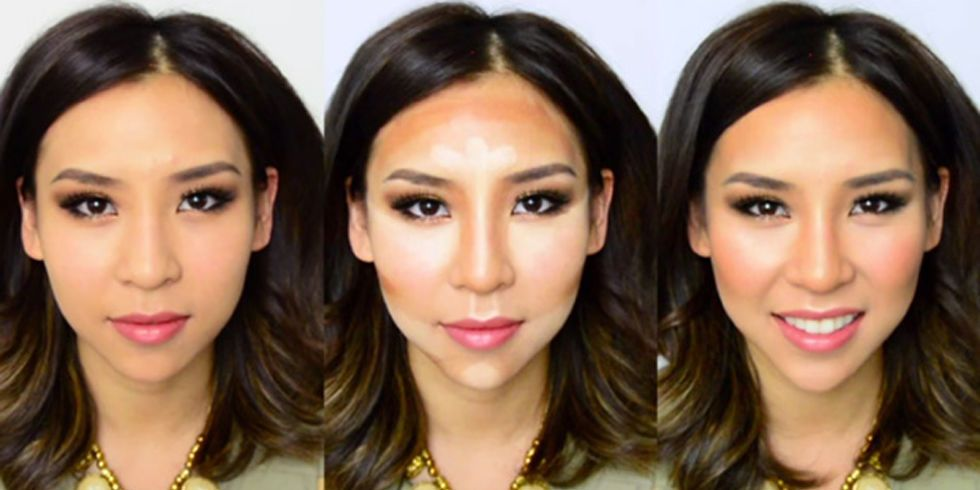 Slim Your Face Makeup Tricks How To Contour And Highlight Your Face
