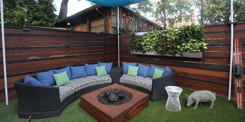 Wood, Hardwood, Outdoor furniture, Outdoor sofa, Home, Garden, Wood stain, Backyard, Shade, Yard,