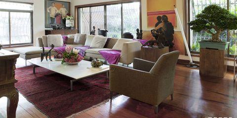 Wood, Interior design, Floor, Flooring, Room, Hardwood, Furniture, Table, Living room, Interior design,