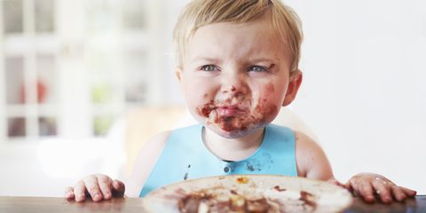 Cheek, Mouth, Child, Jaw, Food craving, Eating, Taste, Baby playing with food, Toddler, Dish,