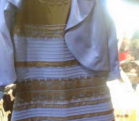 Blue/Back White/Gold Dress