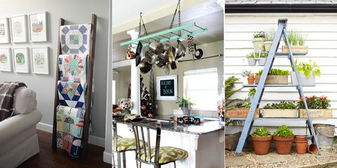 How to Decorate With Ladders - DIY Home Decorating Projects